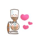 バリスタ!&コーヒー器具(個別スタンプ:4)