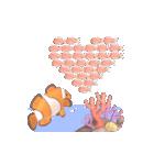 1000匹超え!!魚のメッセージ[動く3D](個別スタンプ:1)