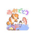 1000匹超え!!魚のメッセージ[動く3D](個別スタンプ:3)