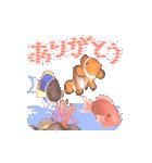 1000匹超え!!魚のメッセージ[動く3D](個別スタンプ:4)