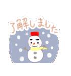 手書きクレヨン風 冬のスタンプ(個別スタンプ:1)