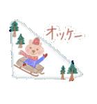 手書きクレヨン風 冬のスタンプ(個別スタンプ:3)