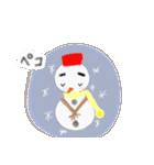 手書きクレヨン風 冬のスタンプ(個別スタンプ:25)