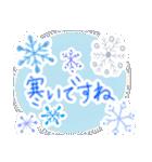 手書きクレヨン風 冬のスタンプ(個別スタンプ:28)