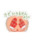 手書きクレヨン風 冬のスタンプ(個別スタンプ:32)