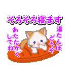 冬のもふもふしっぽの子猫ちゃん(個別スタンプ:5)