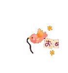 動く♢小鳥の冬スタンプ♢(個別スタンプ:6)