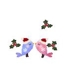 動く♢小鳥の冬スタンプ♢(個別スタンプ:8)