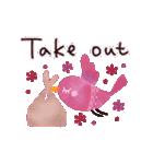 動く♢小鳥の冬スタンプ♢(個別スタンプ:11)