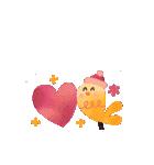 動く♢小鳥の冬スタンプ♢(個別スタンプ:12)