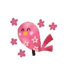 動く♢小鳥の冬スタンプ♢(個別スタンプ:14)