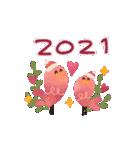 動く♢小鳥の冬スタンプ♢(個別スタンプ:16)