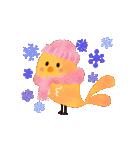 動く♢小鳥の冬スタンプ♢(個別スタンプ:19)