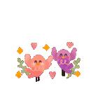 動く♢小鳥の冬スタンプ♢(個別スタンプ:20)