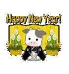 のほほん子牛 毎日&年末年始(個別スタンプ:37)