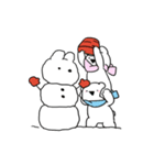 すこぶる動くウサギ【冬2】(個別スタンプ:1)