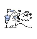すこぶる動くウサギ【冬2】(個別スタンプ:3)