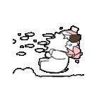 すこぶる動くウサギ【冬2】(個別スタンプ:4)