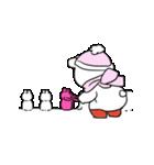 すこぶる動くウサギ【冬2】(個別スタンプ:7)
