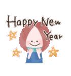 年末年始☆おしゃかわガール(個別スタンプ:1)