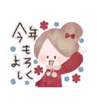 年末年始☆おしゃかわガール(個別スタンプ:3)