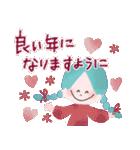 年末年始☆おしゃかわガール(個別スタンプ:9)