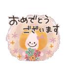 年末年始☆おしゃかわガール(個別スタンプ:34)