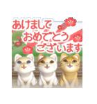飛び出す 縁側の猫【お正月】(個別スタンプ:2)
