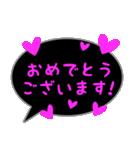 蛍光風スタンプ ハート♡1 日常会話(個別スタンプ:10)