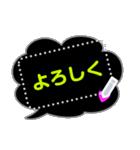 メッセージ蛍光風ハート♡1日常会話(個別スタンプ:7)
