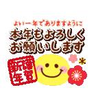 【新春】HAPPYスマイル日常も使える年賀状(個別スタンプ:6)