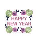 動く♡大人の女性の年末年始の挨拶♡(個別スタンプ:9)