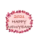 動く♡大人の女性の年末年始の挨拶♡(個別スタンプ:13)
