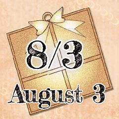 [LINEスタンプ] 8月3日記念日BIGスタンプ
