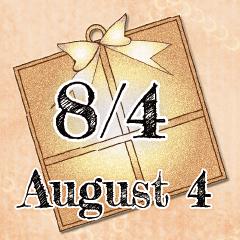 [LINEスタンプ] 8月4日記念日BIGスタンプ