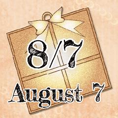 [LINEスタンプ] 8月7日記念日BIGスタンプ