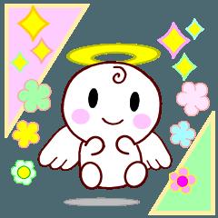 天使の適度なスタンプ