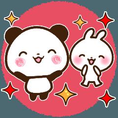 【シンプル大きな文字!】パンダ&うさぎ