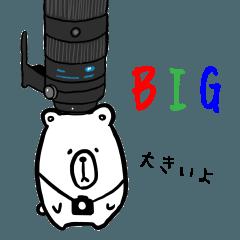 写真好きのpeのクマ Bigスタンプ version1