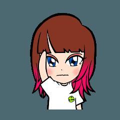 ピンクちゃんの夏スタンプ