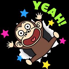 [LINEスタンプ] 背景が動く★イラッとお猿さん