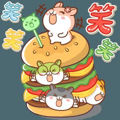 [LINEスタンプ] ビッグハムサギャング (日本語)
