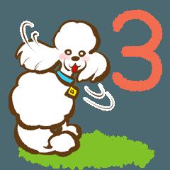 [LINEスタンプ] (犬)うるわしのプードル3