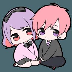 [LINEスタンプ] 病みカップル