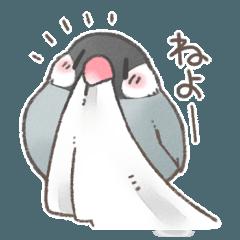 ふんわり小鳥スタンプ