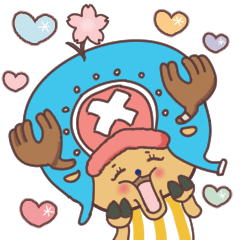 [LINEスタンプ] 【ONE PIECE】with まるいやつら。