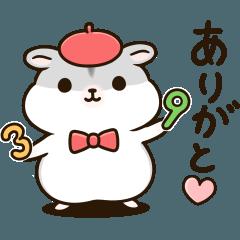 [LINEスタンプ] レトロ風☆ぽちゃハムちゃんのスタンプ