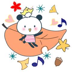[LINEスタンプ] おちゃめなリトルパンナ 秋の画像(メイン)