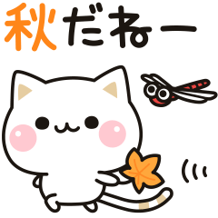 [LINEスタンプ] 気づかいのできるネコ♪動く秋編