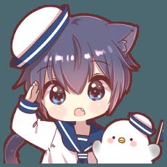 ツンデレ猫耳少年【セーラー服】